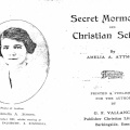 'Secret Mormonism & Christian Science' by Atmore