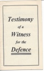 Testimony of a Witness