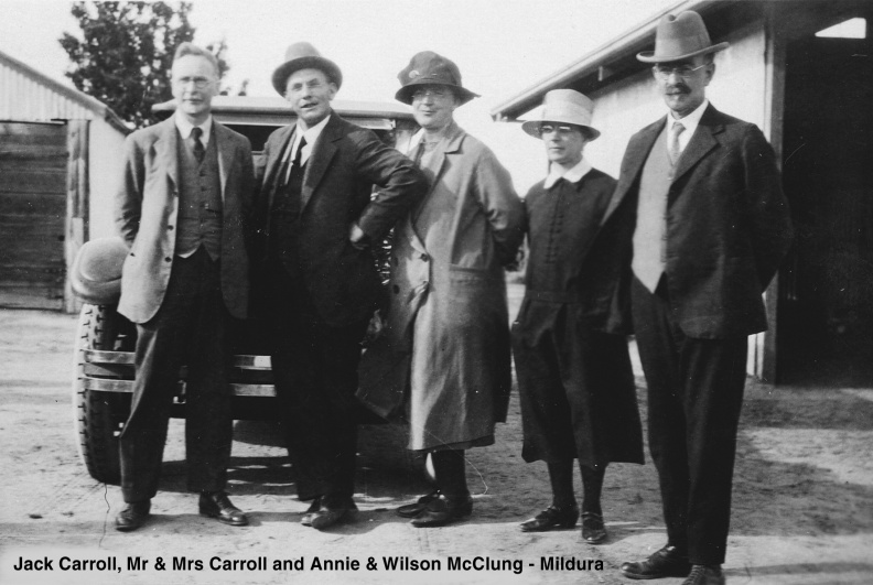 Carroll, Jack and  Bill & Maggie Carroll with Wilson & Annie McClung