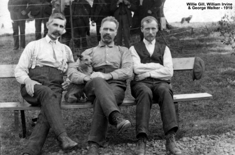 Gill, Willie, Wm Irvine & Geo Walker 1910 Big