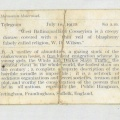 Telegram July, 1911 by Wilson