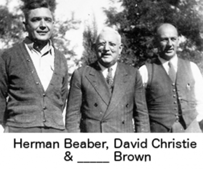Christie, David (center) (1904) Herman Beaber (left) & _____