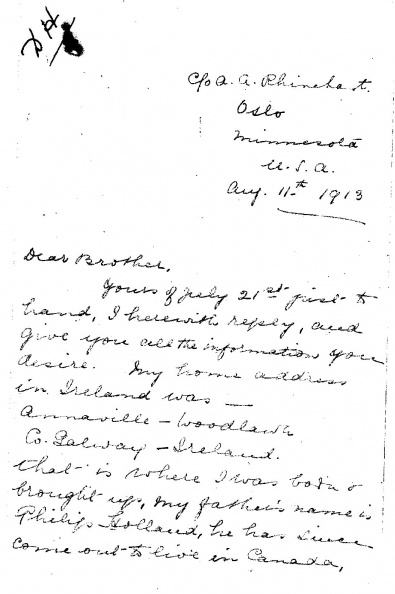 Holland, Dora page 1 Front