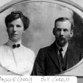 Bill & Maggie Carroll - Wedding, 1901