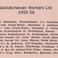 1955-56 Saskatchewan Workers List