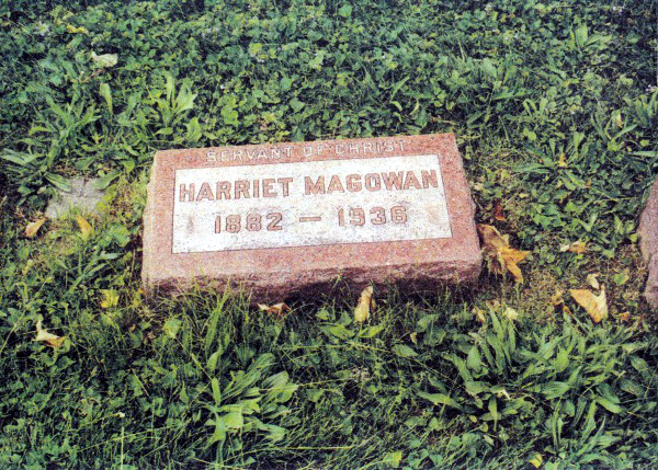 Grave- Harriett Magowan