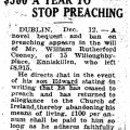 $500 a year to Stop Preaching